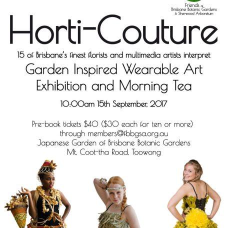 Horti Couture 2017 Friends of Brisbane Botanic Gardens