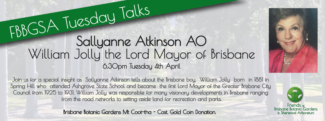Sallyanne-Atkinson Tuesday Talks Botanic Gardens, Mt. Coot-tha