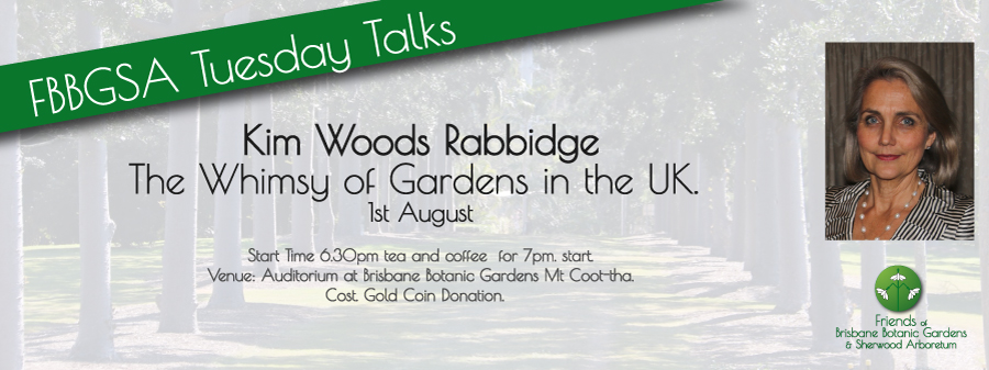 Kim Woods Rabbidge Talk Friends of Brisbane Botanic Gardens
