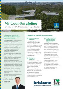 Mt Coot Tha Zipline Newsletter